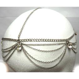 Multi-Gem Silver Head Chain Piece