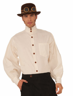 Beige Steampunk Formal Costume Top