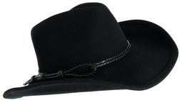Black Cattleman Braided Rope Cowboy Hat