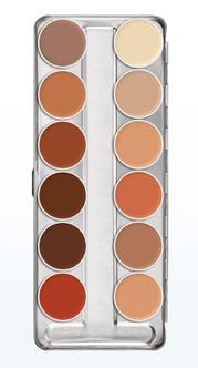 Kryolan Professional Grean Paint 12 Colour FTV Palette