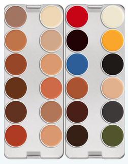 Kryolan Professional Grease Paint 24 Colour Palette