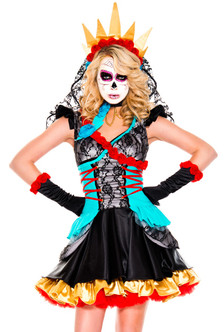 Adult Plus Day of The Dead Darling Costume