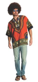 Adult Hippie Vibrant Patterned Dashiki
