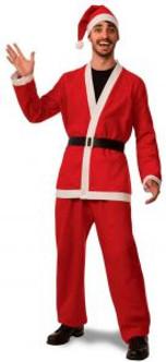 Promo Flannel Santa Suit Costume Extra Large