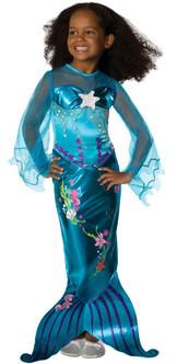 Child Beautiful Blue Mermaid Costume