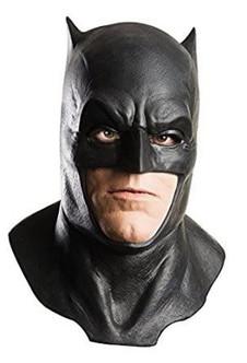 Latex Black Batman Costume Cowl