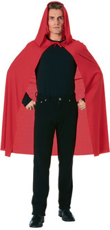 """Red 45"""" Long Costume Cape"""