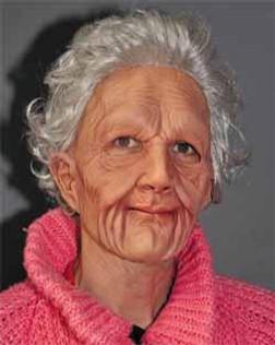 Super Soft Old Woman Latex Costume Mask