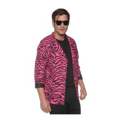 Tacky Pink Zebra Print Blazer Jacket