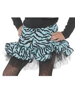 Blue Zebra Print Costume Skirt