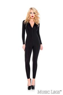 Black Bodysuit with Zipper