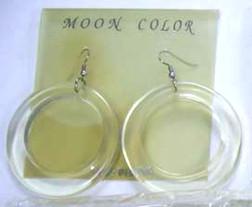 Lucite Hoop Earings