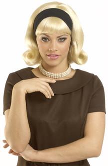 1950'S DO Detachable Headband Wig - Blonde