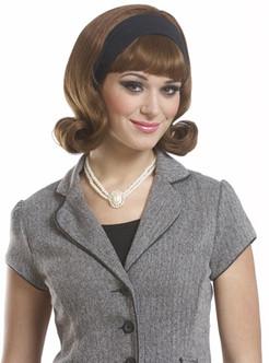 1950'S DO Detachable Headband Wig - Brown