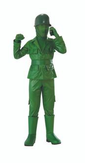 Children's Green Toy Soldier Costume