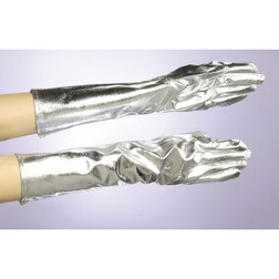 Silver Lame Gloves