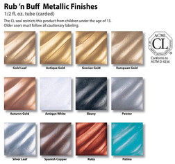 Rub N Buff Cosplay Finishes - 12 Colours!