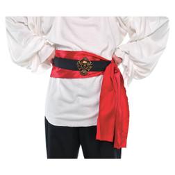 Pirate Belt, Buckle, & Red Satin Sash