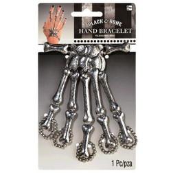 Black & Bone - Silver Skeleton Hand Costume Bracelet