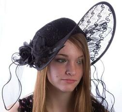 Black Seductress Derby Hat