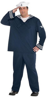 Out to Sea Sailor Costume - Plus Size