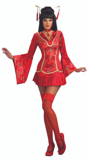 Red Ginger Oriental-Lady Costume