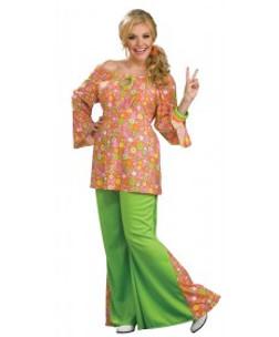 60s Flower Print Girl Costume