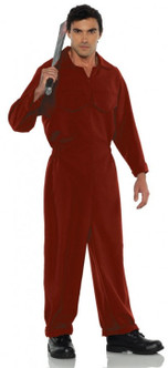 Red Boiler Suit Costume - Plus Size