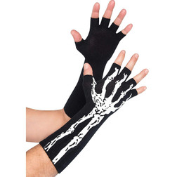 Skeleton Glow-In-The-Dark Fingerless