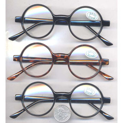 Round Thick Frame Glasses