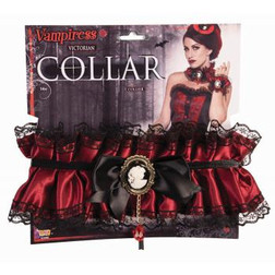 Black & Red Victorian Collar