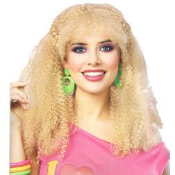 80s Crimped Blonde Wig