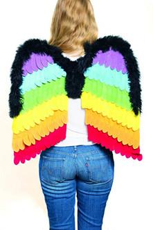 """24"""" Rainbow Flexible Velour wings"""