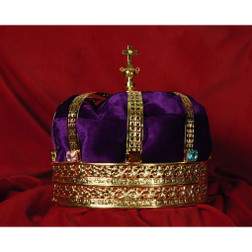 Men's Rhinestone Gold Crown