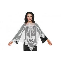 Lace Skeletal Poncho