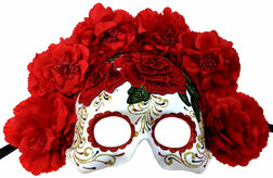 Day of the Dead Embroidered Floral Mask
