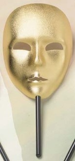 Venezia Mask with Stick - 3 Colours