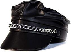 Biker/Punk Faux Leather Hat