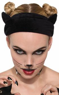 Black Velvet Cat Headband