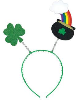 St. Patrick's Day Pot-of-Gold Bopper Headband
