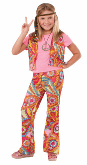 70s Childrens Hippy Girl Costume