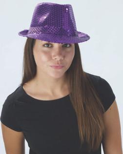 20s Sequin Fedora Purple