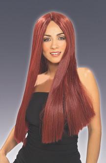 Long Burgundy Wig
