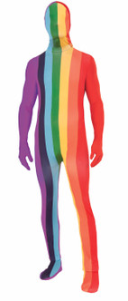 Pride Rainbow Dissapearing Man Costume With Removable Hood
