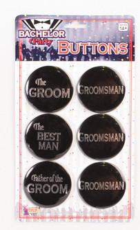 Bachelor Party Button Set - Group of 6