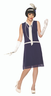 20s Womens Flapper Day Dreaming Day Dress