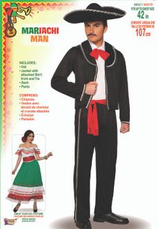 Mens Spanish Mariachi Man Costume