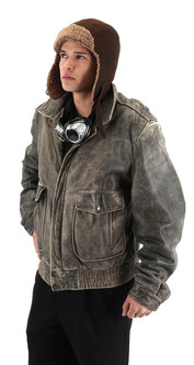 Steamworks Steampunk Aviator Fleece Lined Hat at The Costume Shoppe