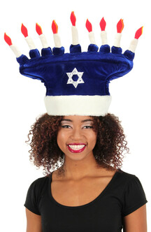 Happy Chanukah Plush Hat at The Costume Shoppe