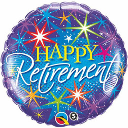 Foil Happy Retirement Celebration 12 Inch Balloon at The Costume Shoppe